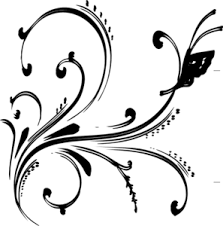 Clipart Design Black Floral Design With Butterfly Clip Art At Clker Com Vector
