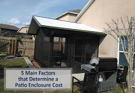 a patio enclosure cost