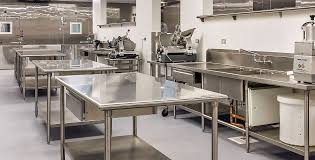 Industrial Kitchen Furniture Attractive Stainless Steel Kitchen Tables In Wide Industrial