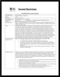 Electrician Resume Sample Entry Level Electrician Resume Examples