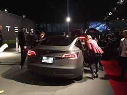 tesla new car releaseHere Is the Tesla Model 3 2017