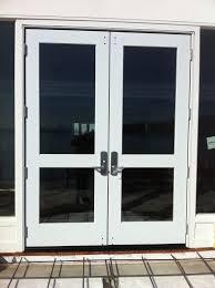 Decorating commercial door installation photographs : Marvin Commercial Door Installation with Von Duprin Hardware