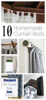 Copper Curtain Rod 10 Homemade Curtain Rods You Can Make