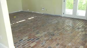 Brick Flooring For Kitchen Porteaux Progress Flooring Has Begun