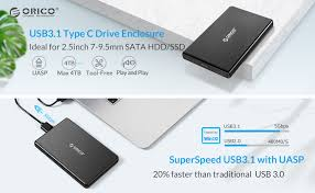 ORICO 2.5 USB C External Hard Drive Enclosure ... - Amazon.com