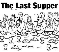 Small Picture Last Supper Coloring Pages
