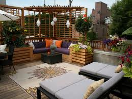 ... modern rooftop terrace feat patio design also small pergola also outdoor  rug ...