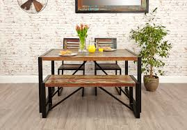 chic industrial furniture. Chic And Creative Small Industrial Dining Table Bench Hampshire Furniture