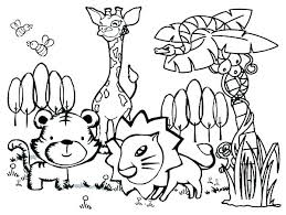 Er Animal Coloring Pages Animals In For Preschool Winter Animal