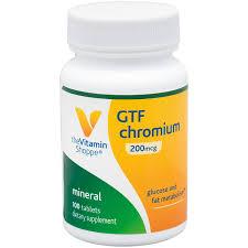 <b>GTF Chromium 200 MCG</b> (100 Tablets) at the Vitamin Shoppe