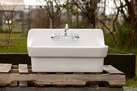 amazon com vintage style high back farm sink original porcelain