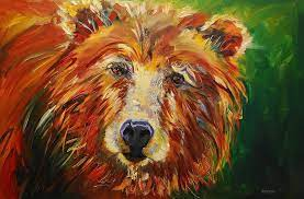 A Bunch Of Bear Painting by Diane Whitehead
