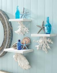 decorative wall shelves with a coastal