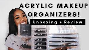 best affordable acrylic makeup organizer unboxing review