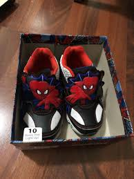 Spiderman Light Up Shoes Size 13 Spider Man Shoes 10us Size On Carousell