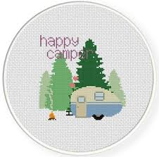 Cross Stitching Patterns Simple Happy Camper Cross Stitch Pattern Craftsy