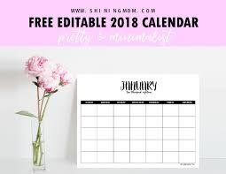 monthly calendar 2018 template free fully editable 2018 calendar template in word