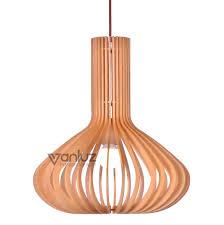 China Wood Cage Pendant <b>Lighting Creative</b> Simple Pendant ...