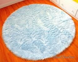 round nursery rug blue nursery rug 4 baby blue luxury faux fur throw area rug round