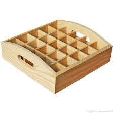 new arrived wooden tray essential oil storage boxes 25 holes 5 10ml bottles natural pine wood without paint f007021 whole customizable essential oils