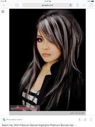 51 Black Hair With Platinum Blonde Highlights