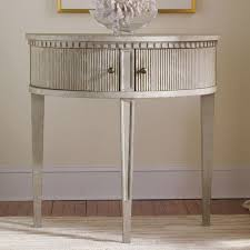 agreeable half round accent table
