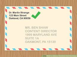 How To Address A Christmas Card 4 Ways To Address Christmas Card Envelopes Wikihow