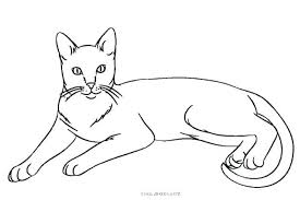 Cute Cat Coloring Sheets Baby Colouring Pages Kitty To Print Free