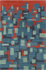 blue and orange area rugs patterned contemporary wool rug arapaho