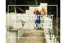 Method Statement For Duct Light Test Pdf Method Statement For Blockworks Masonry Welcome