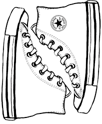 converse shoes black and white clipart. pin converse clipart black and white #11 shoes