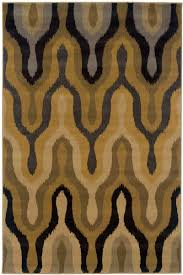 image of black and gold rug express