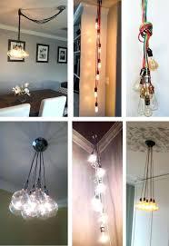 multi bulb pendant light 7 pendant cer custom any colors any lengths multi pendant lighting cer