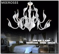 modern white swan chandelier light fixture lighting fitting black romantic swan hanging suspension drop light lamparas lamp industrial chandelier chandelier