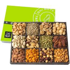 oh nuts 12 variety mixed nut gift basket holiday freshly roasted healthy gourmet snack gifts premium wood tray prime food baskets for men