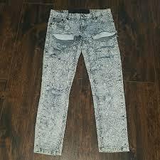 One Teaspoon Clothing Size Chart One Teaspoon Destroyed Handkerchief Print Jeans