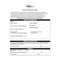 Company Time Off Request Form Example 1730