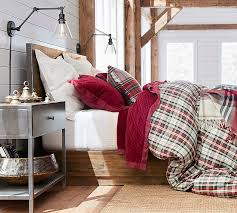 interior denver plaid yarn dyed duvet cover sham pottery barn clean tartan bedding majestic 11