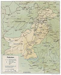 Map showing length of borders with neighbouring countries & coastal line. Pakistan Maps Perry Castaneda Map Collection Ut Library Online
