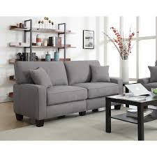 73 inch sofa. Exellent Inch Serta RTA Palisades Collection 73inch Glacial Grey Sofa In 73 Inch Overstockcom