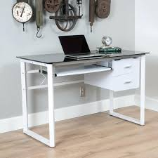 glass desk with drawers glass desk with drawers white glass desk with hanging lacquered drawers cool