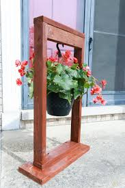 grande outdoor diy hanging plant stand weared fox hers