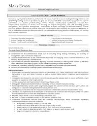 Call Center Manager Resume - Sradd.me