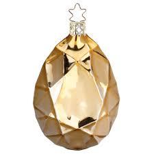 Diamant ø 85cm Amber Gold Glänzend Inge Glas Christbaumschmuck