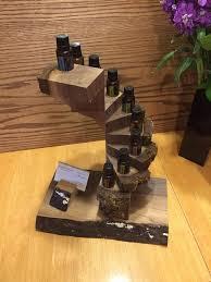 Essential Oil Display Stand Impressive Walnut Spiral Essential Oil Display Essential Oil Stands