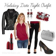 holiday date night outfit featuring white house black market rack room shoes