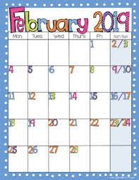 mothly calendar editable free bright polka dot monthly calendars 2018 2019 tpt