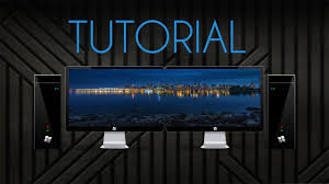 dual monitor wallpaper tutorial hd no extra software needed you