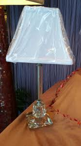 lenox table lamps awesome etched crystal table lamp 89 95 shade sold separately 28 95