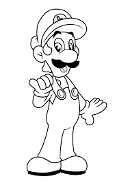 Small Picture Luigi Wearing Workshop Clothes Coloring Pages Download Print